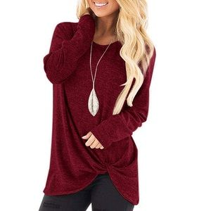 🎀 Casual Solid Twist Knot Tunic 🎀